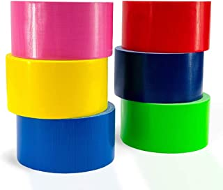 Katzco Colored Duct Tape - 5 Pack, 1.89 Inches x 30 Feet - Assorted Colored Tapes - for Office Supplies, School Projects,...