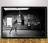 DAQIANSHIJIE Mohamed Ali Boxe Star Affiche Personnage d'inspiration Mur Art Photo Salon Couloir Bar café hôtel Peinture décorative 42X60 cm sans Cadre