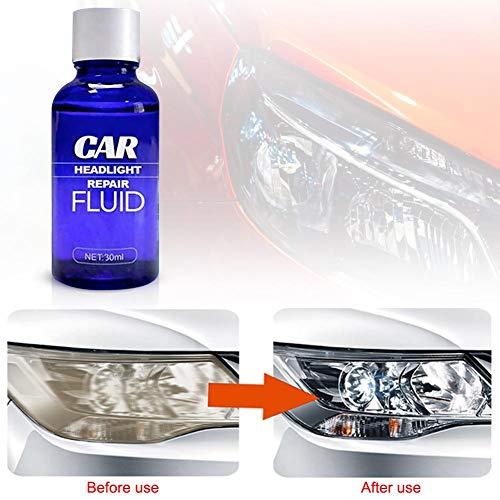 30ML Reparaturflüssigkeit für Autoscheinwerfer, UV-Schutz Kratzerentferner Autolichtreiniger Kfz Scheinwerfer-Restaurierungskit