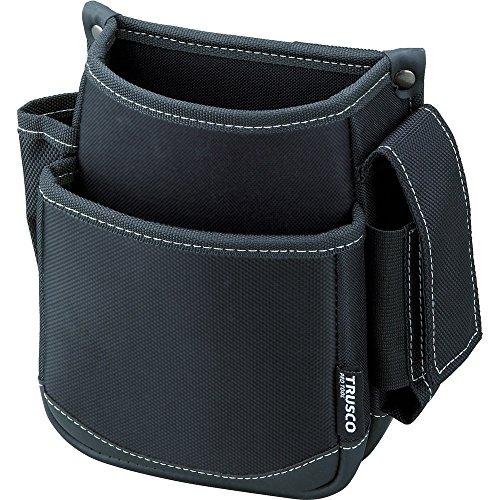 TRUSCO(トラスコ) 腰袋 2段 携帯電話ホルダー付き ブラック TWP2-BK