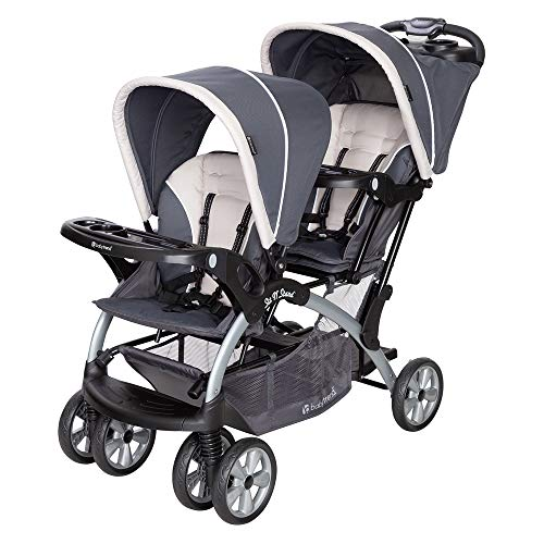 Baby Trend Sit N' Stand Convenience Easy Fold Compact Lightweight Travel Toddler & Baby Twin Double Stroller