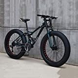 7-speed Gear Adult Mountain Bikes, Beach Bikes With High Carbon Steel Full Suspension