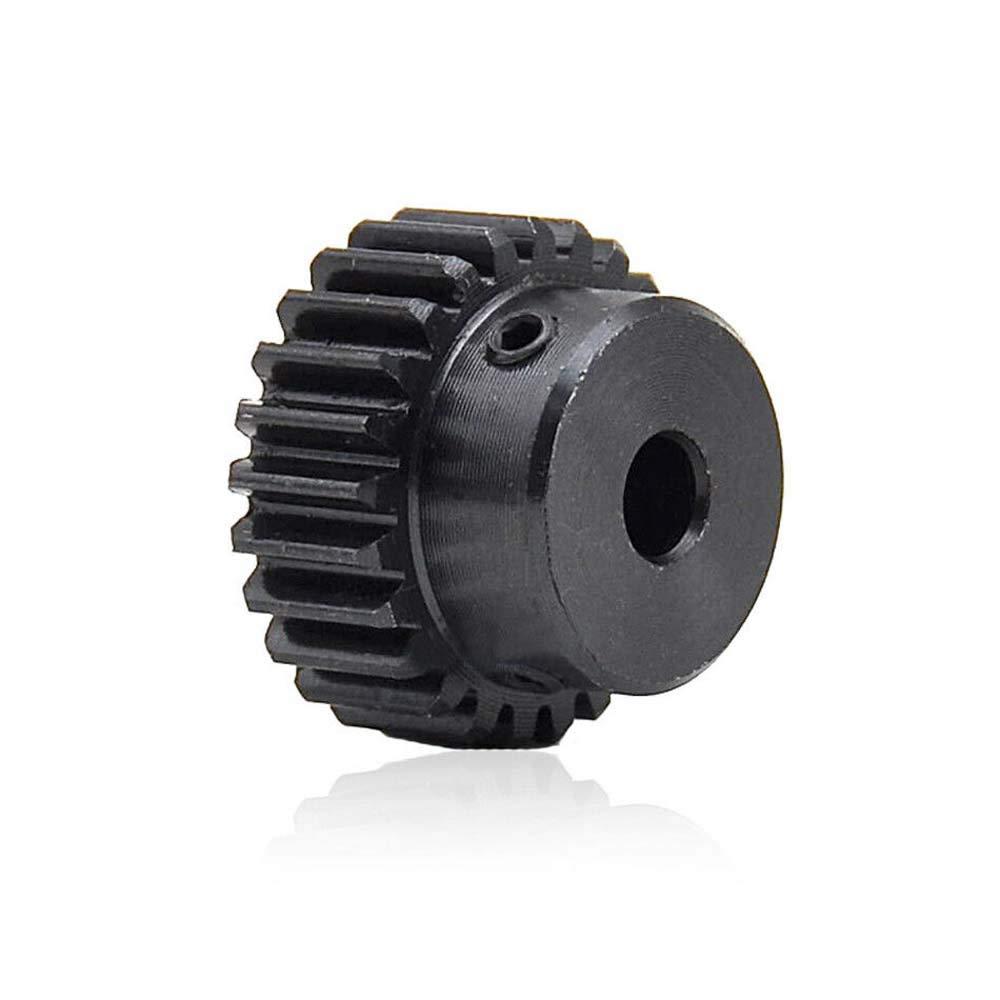 1Pcs 45# Steel Spur Motor Pinion Gear 1Mod 20T Outer Diameter 22