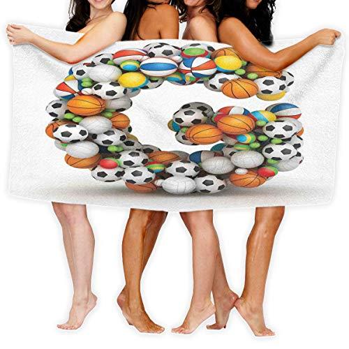 Toalla Shower Towels Beach Towels Concepto de tema atlético para fanáticos del deporte Toalla De Baño 80X130CM