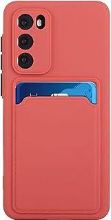 Lijc Kompatibel med Huawei P30 Fodral [Skärmskydd] Skyddskåpa med Kortplats Ultratunt Flexibelt mjukt Silikon TPU Stötsäke...