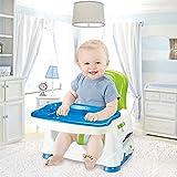 Swttppy Silla alta de bebé plegable alimentación de los niños del niño del Presidente Booster Silla for niños Silla de comedor Comer mesa de la cena Tabla Booster portátil asiento del recorrido de ali