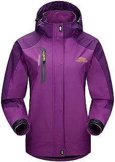 FYXKGLa Ms. Spring and Autumn Thin Jackets Outdoor Sports Mountaineering Jacket Women's Windbreaker Jacket (Color : Purple, Size : XXL)