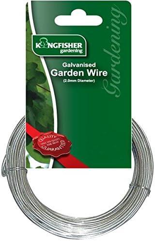 Kingfisher 2mm 10m Galvanised Garden Wire Multi Purpose Hydroponics UK