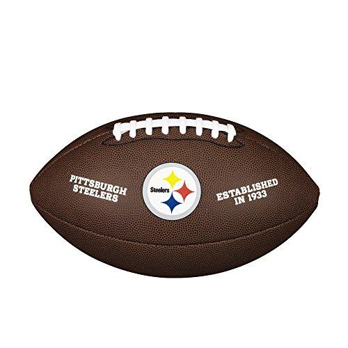 Wilson American Football NFL TEAM LOGO, Pittsburgh Steelers, Offizielle Größe, Für Freizeitspieler und Sammler, PVC, braun, WTF1748XBPT