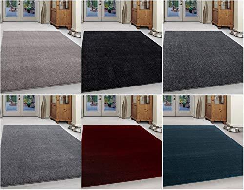 Ayyildiz Wunderschöne Kurzflor Teppiche ATA Teppich, Moderner Einfarbig Teppich, rechteckig, Höhe 12 mm, Größe:160 x 230 cm, Farbe:Grau