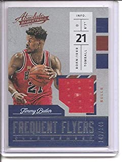 Jimmy Butler Chicago Bulls 2016-17 Panini Absolute Frequent Flyers Club Members Jersey Basketball Card #142/149