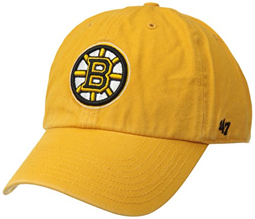 '47 NHL Boston Bruins Brand Clean Up Adjustable Hat, Gold, One Size