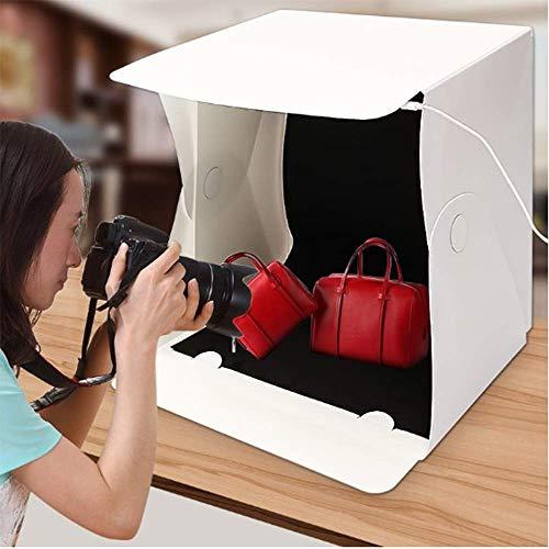 SISHUINIANHUA 15,8 Zoll tragbare Folding Light Box Fotografie Studio Softbox LED-Licht Softbox Zelt Kit für Telefon Kamera Foto Hintergrund