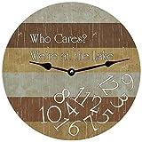Ninguna marca personalizada Who Cares Lake Clock