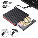 External DVD Drive for Laptop,JFUNE USB 3.0 Type C Portable Optical Drives,CD/DVD/ROM Rewriter Reader Burner Compatible with MacBook air/pro Notebook Surface pro OS Windows 7/8/10 (Orange)