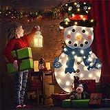 Hamkaw Divertidos Juegos de muñeco de Nieve de Navidad de Fieltro DIY con 2...