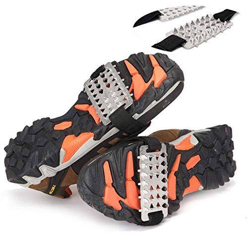 Velcro Incluido Crampones 26 De Dientes, Duraderos Superficie De La Nieve De Hielo Ciudad del Zapato Pesca En El Hielo Antideslizante Cubiertas Fáciles De Llevar para Herramientas Al Aire Libre