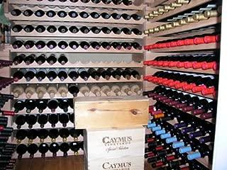 Wine Rack Wood -40 Bottles Modular Hardwood Wine Racks (10 bottles x 4 shelves)