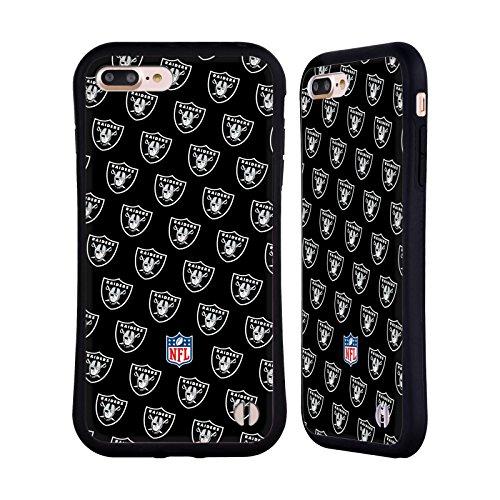 Head Case Designs Oficial NFL Patrones 2017/18 Oakland Raiders Carcasa híbrida Compatible con Apple iPhone 7 Plus/iPhone 8 Plus