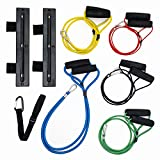 Stability Plus Super Cords Home Kit - Industrial-Grade Bungee Cord Resistance Bands, Wall Mounts, Ankle Strap - Portable Home Gym Accessories - Superior to Traditional Latex Tube Bands