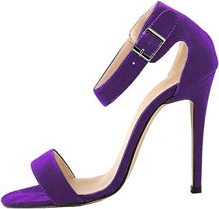 Vimedea Womens Sexy Heeled Sandals Ankle Straps All Match Dress Pumps 11CM Bride Wedding