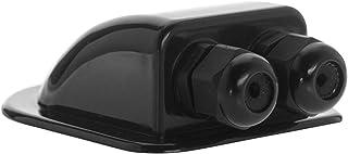 Offgridtec© Dakdoorvoer 2-voudig zwart voor camper caravan boot solar kabeldoorvoer ABS
