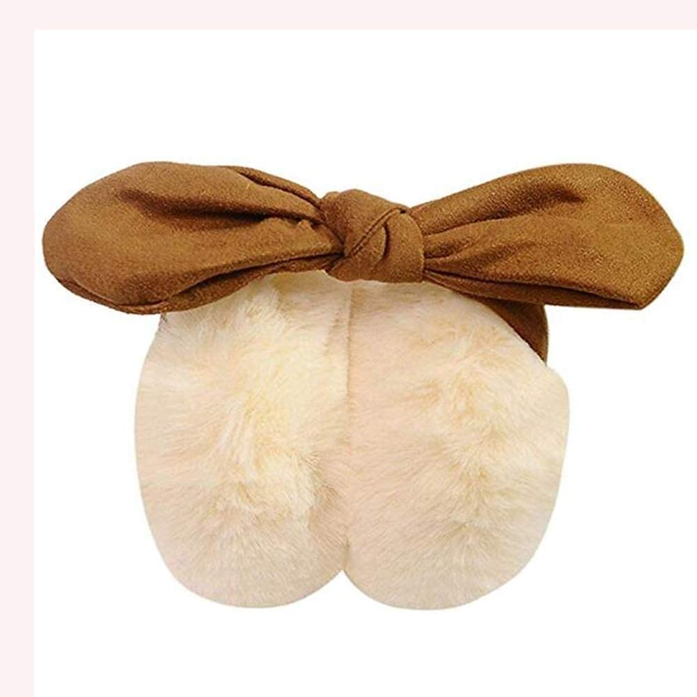 Hitc Winter Warm Outdoor Ear Covers,Soft Foldable Ear Warmers Winter Outdoor Earmuffs,Warm Earmuffs Lovely in Winter Bow Earmuffs 7 Colors