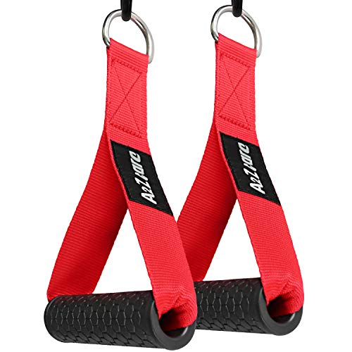 A2ZCARE Heavy Duty Exercise Handles with 2 D-Rings, Premium Exercise Hand Grips...