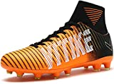 Kids Soccer Cleats Boys High Ankle Sock Soccer Shoes Athletic Football Shoes Performance Shock Buffer Foot Care Indoor/Outdoor (Little Kid/Big Kid)