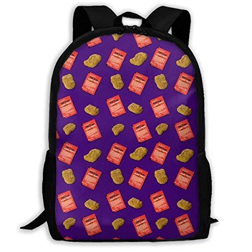 NA Szechuan Sauce Nuggets Muster Erwachsene Premium Reiserucksack, wasserabweisend, College Schule Bookbag, Sport Daypack, Outdoor Rucksack, Laptop Tasche für Damen und Herren