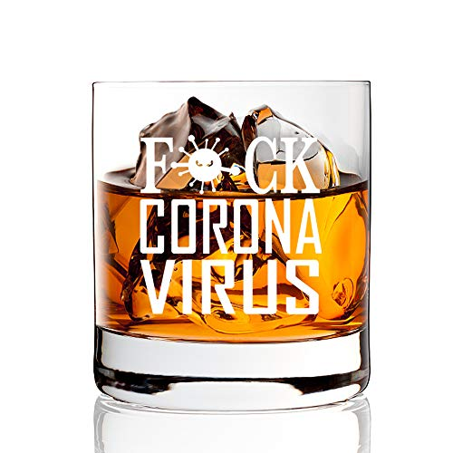 AGMdesign, Quarantine Whiskey Glasses, Social Distancing, Coron, avirus Funny Gift for Dad, Mother, husband, wife, brother,grandfather, grandmother