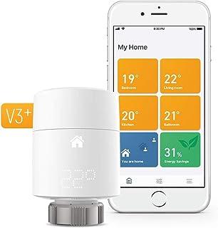 tado° V3+ - Kit básico de termostato inteligente para radiadores (montaje vertical), control inteligente de calefacción, i...