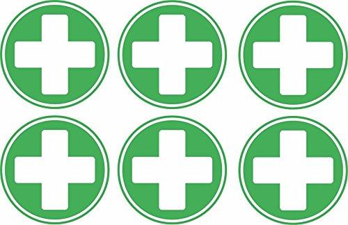 Akachafactory Sticker/Aufkleber, selbstklebend, Kreuz/Erste Hilfe, fürs Federmäppchen, etc.