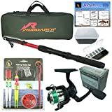 Roddarch Junior beginners Fishing Kit Set. Novice Starter fishing set includes Rod & Reel, Tackle, Bait Box, Tackle Box & Storage Bag Quality Brand