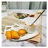xiaofeng214 Lindo Gato Taza para café de cerámica de empuñadura jarras de Animales con la Bandeja...