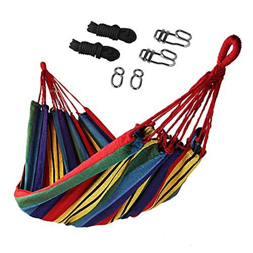 BB Sport Amaca di Giardino 200 x 140 cm Set Fissaggio Massima Portata 200 kg Borsa Transporto Legero Morbido Esterno, Colore:Messico