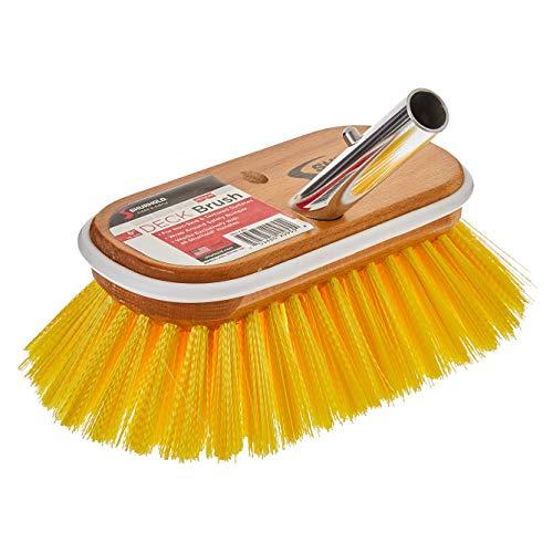 "Shurhold 955 6"" Deck Brush with Medium Yellow Polystyrene Bristles"