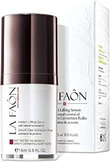 LA FAON Instant Lifting Serum - Instant Hydration for Facial, Neck, Eyes, Skin Tightening and Lifting Crepey face – Treatm...