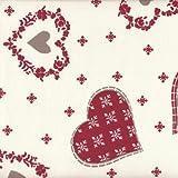 Textiles français Weihnachtsstoff | Herzen und