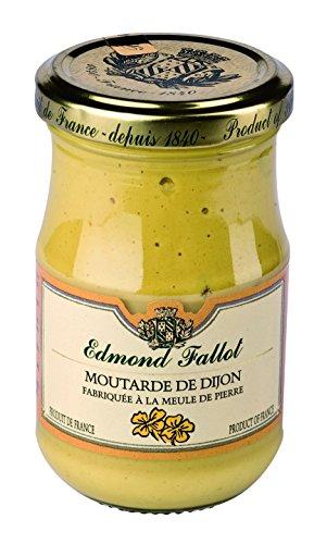 Edmond Fallot - klassischer Dijon-Senf (Moutarde de Dijon) im Glas, 105 g, natur