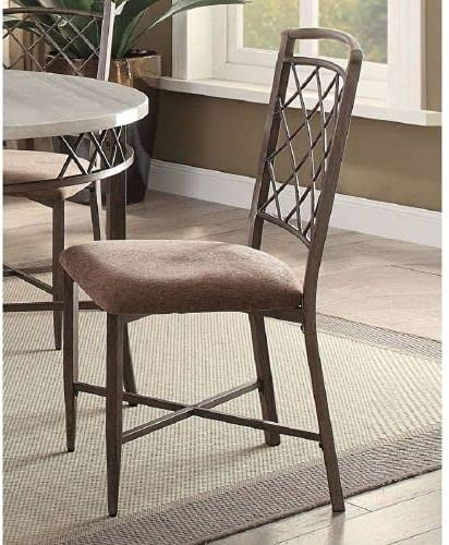 Aldric Side Chair Set-2 Popular product in Antique Fabric 5 ☆ popular