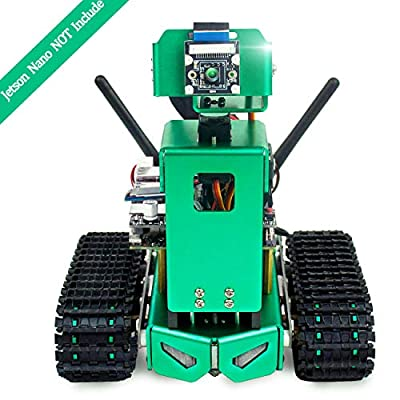 Yahboom Jetbot AI Robot for Jetson Nano B01 A02 with HD Camera Coding with Python Robotice Tank for Adults DIY Programmable Electronics Artificial Intelligence Kit (Jetson Nano NOT Include)