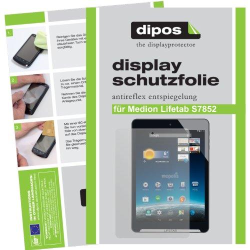 dipos I 2X Schutzfolie matt kompatibel mit Medion Lifetab S7852 / S7851 Folie Bildschirmschutzfolie