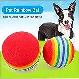 FLAMEER Pelota para Perros Masticar Juego de Traer Casi Indestructible Juguete Mascota Resistente
