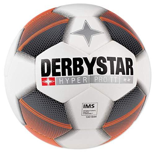 Derbystar Hyper Pro TT - Pallone da allenamento, colore: bianco/grigio/arancione, Uomo, bianco / grigio, 5