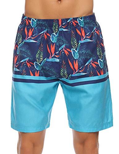 Aibrou zwembroek voor heren, strandshort, sneldrogend, zwembroek Hawaii surf board shorts