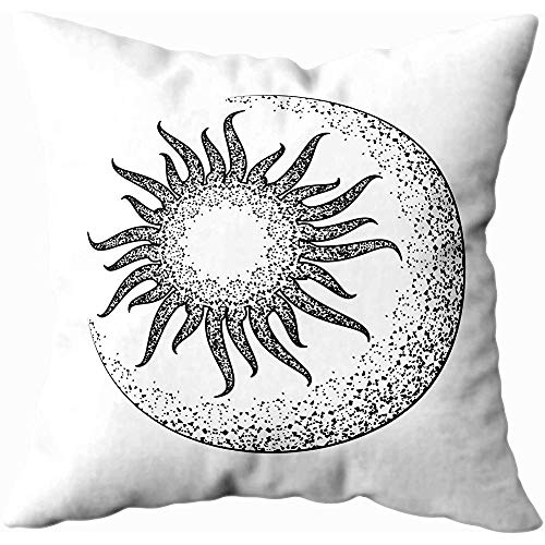 Sun Moon Star Planet The Sketch Tattoo Print Textiles Jewelry Sieraden Body Pillow Case met rits