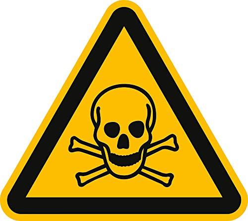Aufkleber Warnschild Warnung vor giftigen Stoffen 10cm sl Folie