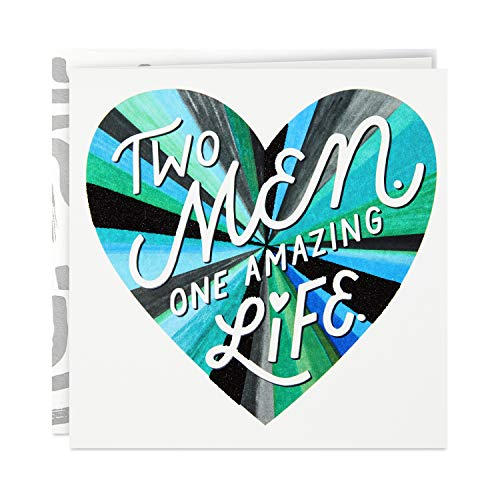 Two Men One Amazing Life gay wedding anniversary cards