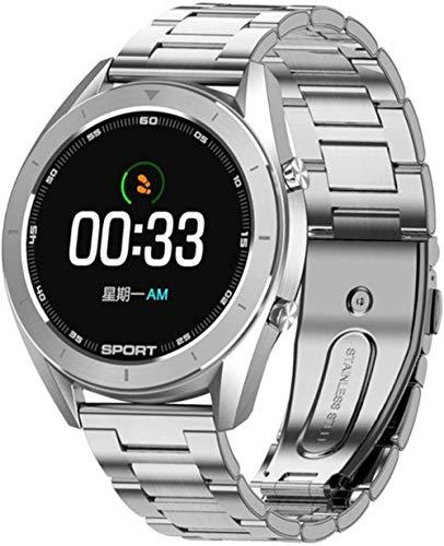 wyingj Reloj inteligente IP68 impermeable redondo HD intercambiable reloj inteligente Fitness Tracker hombres-F
